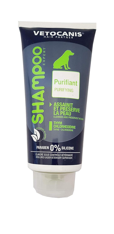VETOCANIS Shampoing Purifiant et Doux pour Chien 300ml, 0% de Paraben 0% de Silicone Agrobiothers BIO000484