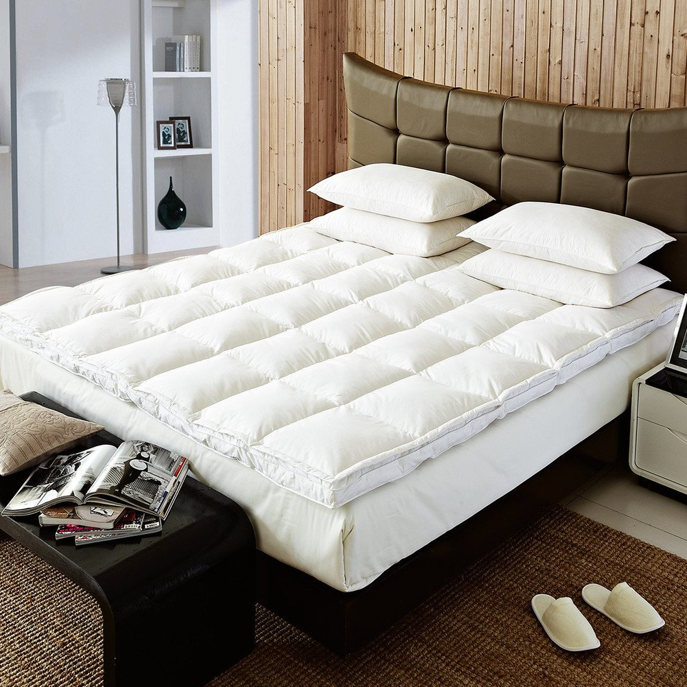 Hotel double feather mattress mattress mat with thickened bed single double protection mat-A King
