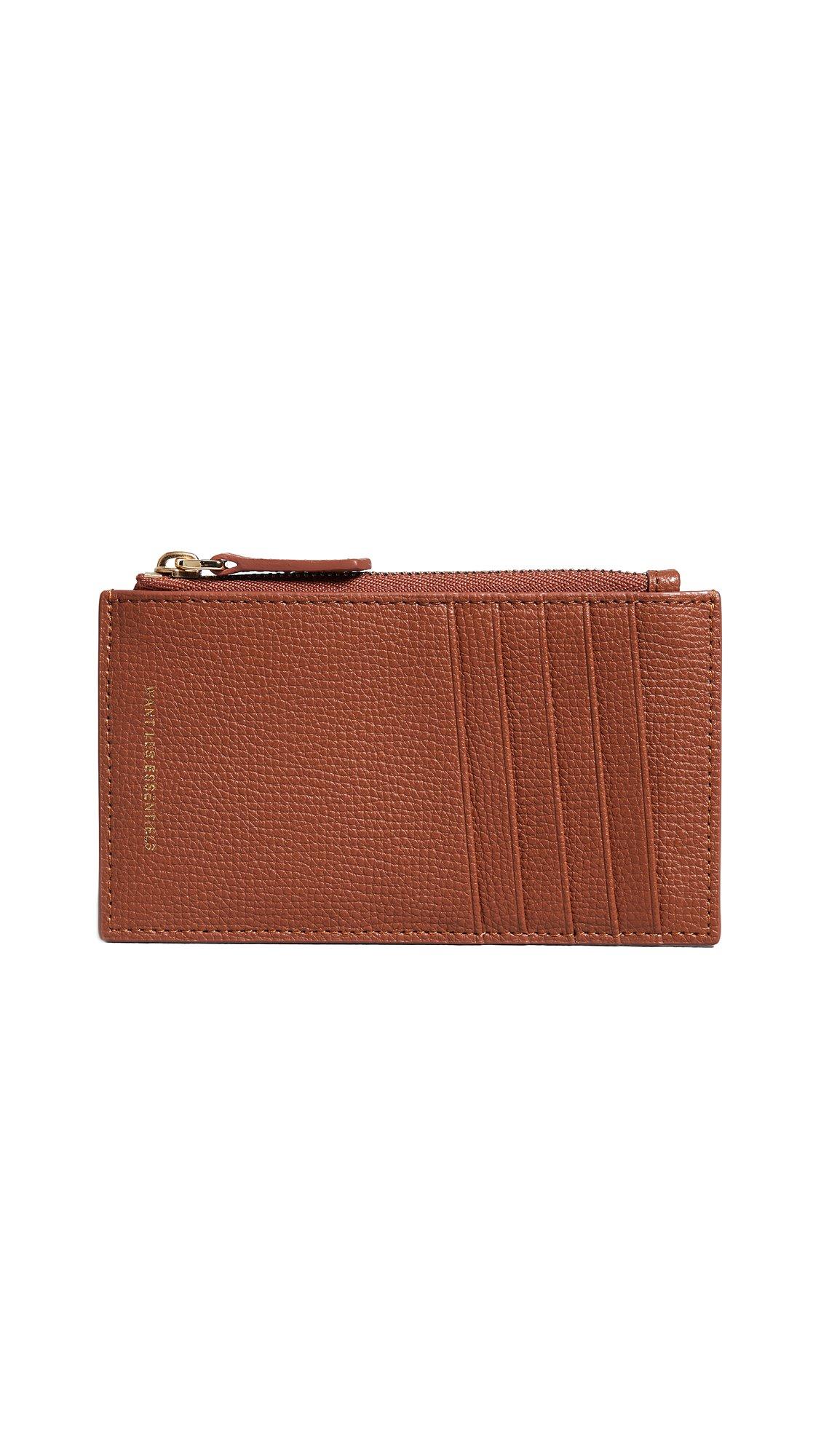 WANT LES ESSENTIELS Women's Adana Zipped Card Holder, Amber Grain, One Size by WANT LES ESSENTIELS