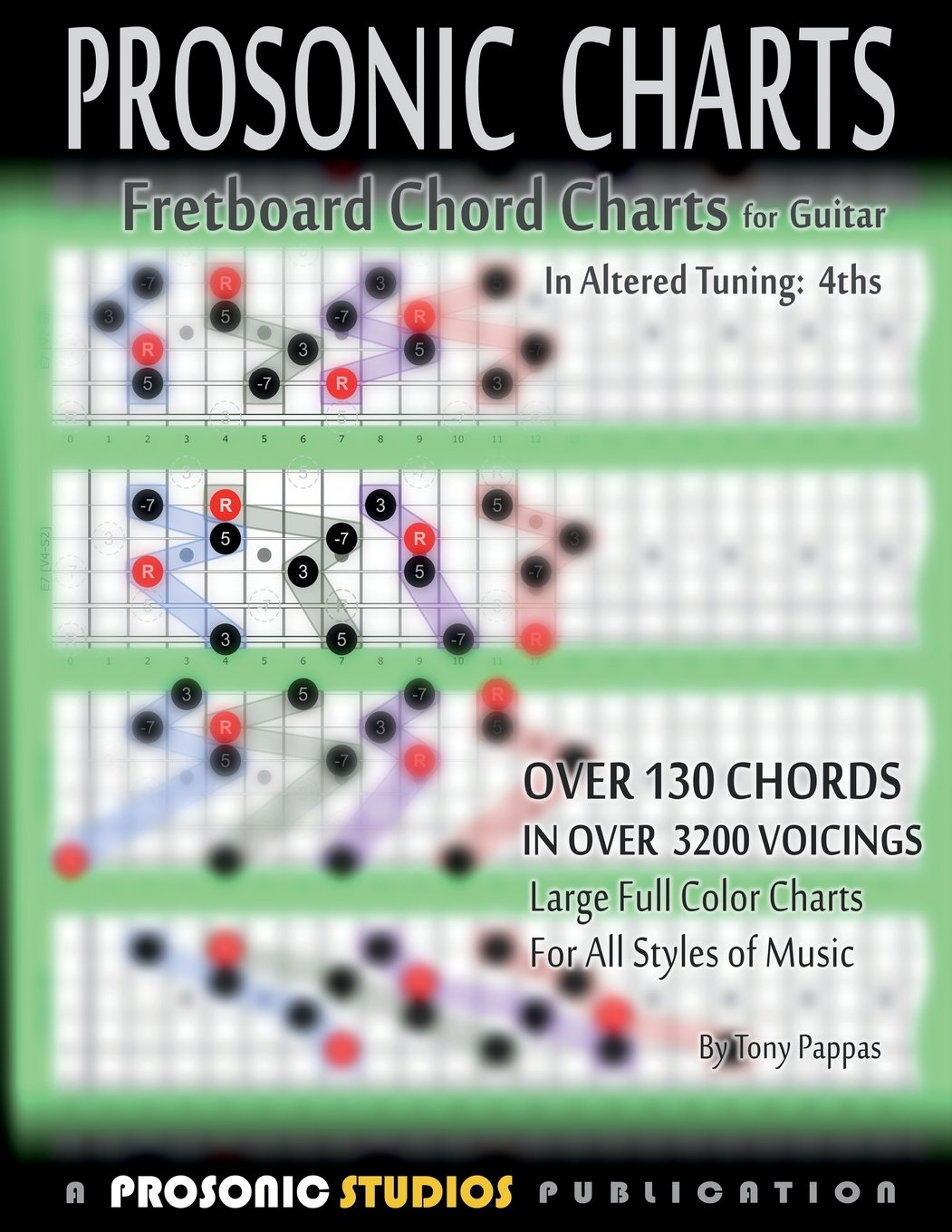 Amazon Fretboard Chord Charts For Guitar In Altered Tuning