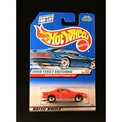 Hot Wheels Monte Carlo Concept CAR RED 1999 First Editions Series #6 of 26 Basic Car 1:64 Scale Series Collector #910: Toys & Games
