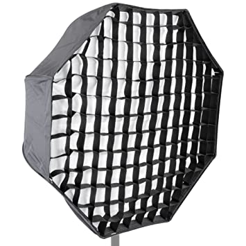 Neewer® Foto Estudio 31/80 cm Octagon Paraguas Tipo Speedlite Softbox con Cuadrícula