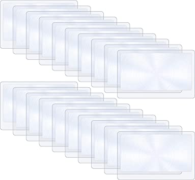 Amazon.com: hestya 20 piezas fino Fresnel lente tamaño de ...