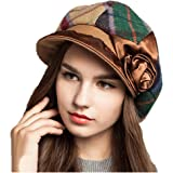 59357f1d67e Maitose Trade  Women s Scottish Plaid Wool Peaked Cap Beret Green at ...