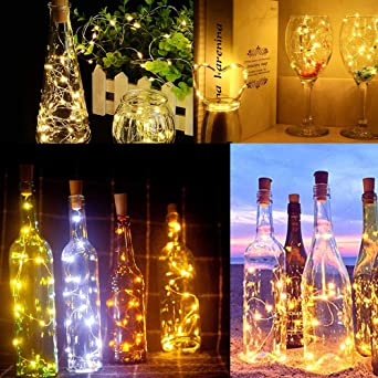 Luz de Botella,12pack 2m 20LEDLuces Para Botellas la Decoración de ...