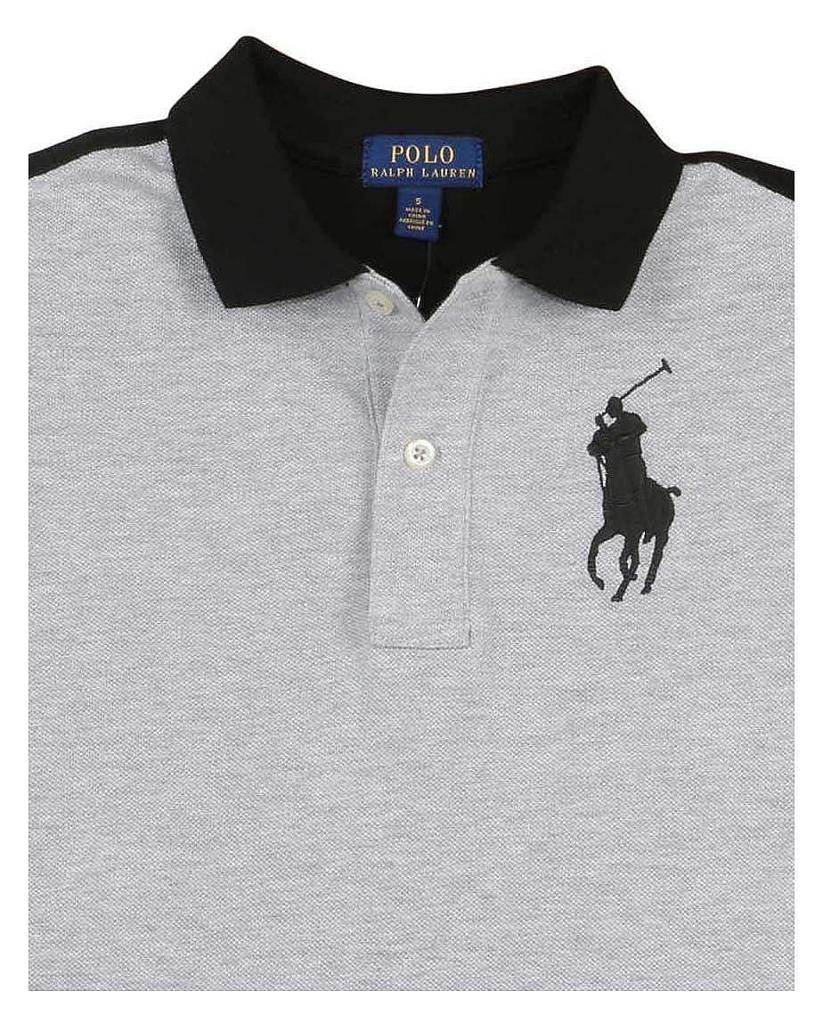14-16 Polo Ralph Lauren Boys Big Kids Big Pony USA Polo Shirt Grey Black Large