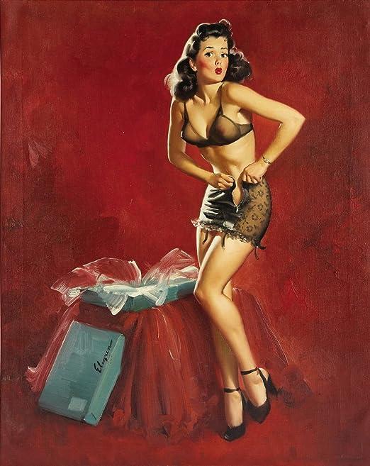 :  Vintage magazine artwork Poster reproduction. 29 Gil Elvgren pin up art
