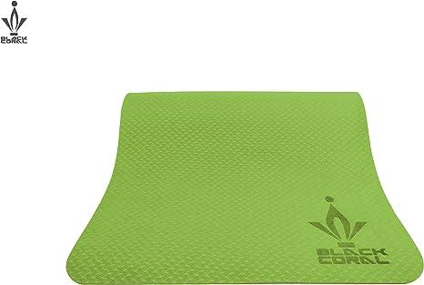 Negro Coral TPE Yoga Mate Biodegradable Eco Amigable - Fácil de ...