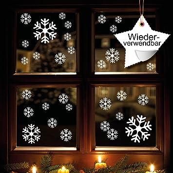 Schneeflocken Und Sterne 60 Stk Selbstklebend Fensterschmuck