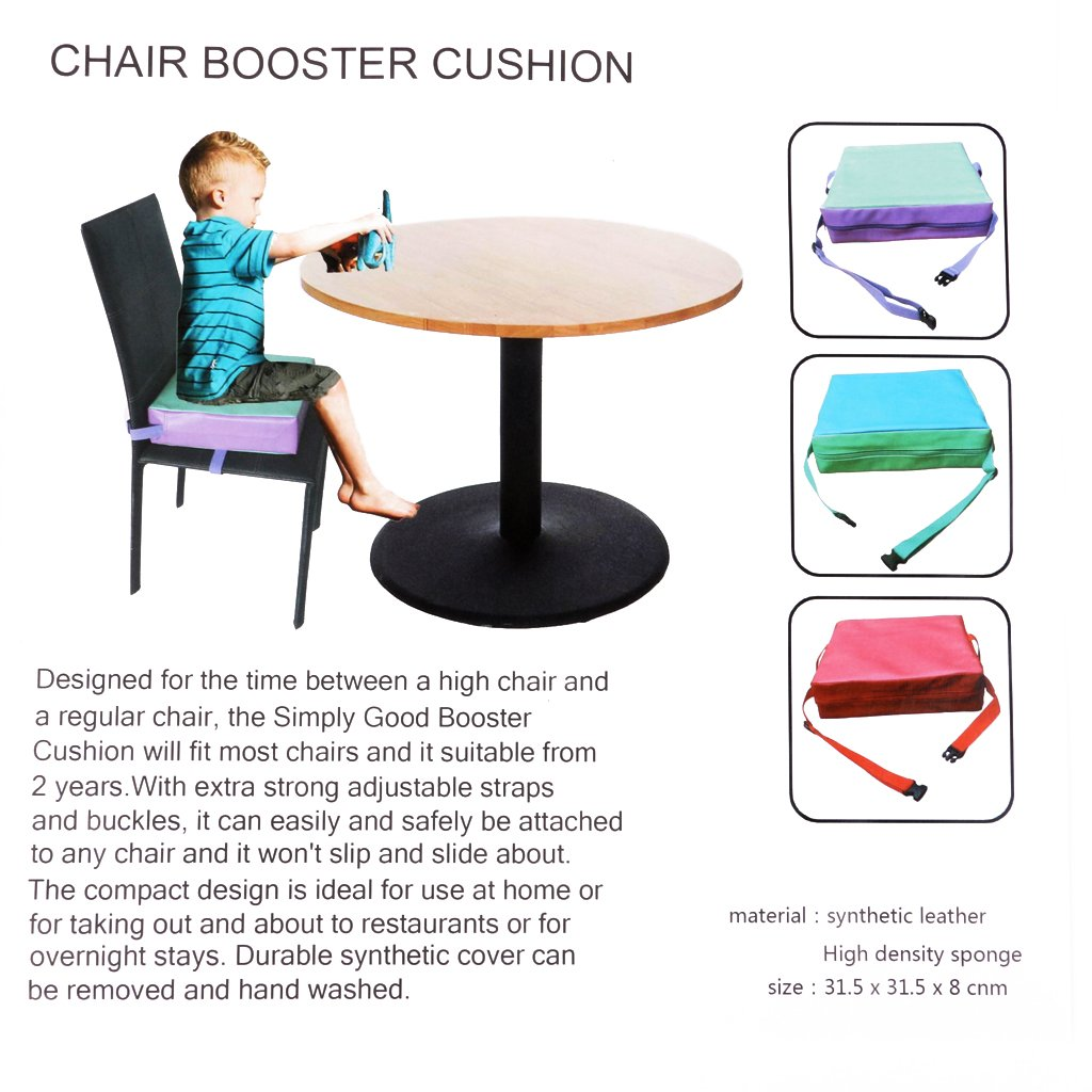 Haolong Faux Leather Kids Dining Chair Booster Cushion Baby Children Seats Red