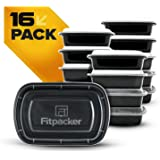 Fitpacker XL Meal Prep Containers BPA-Free Food Storage and Portion Control (38oz - Set of 16)
