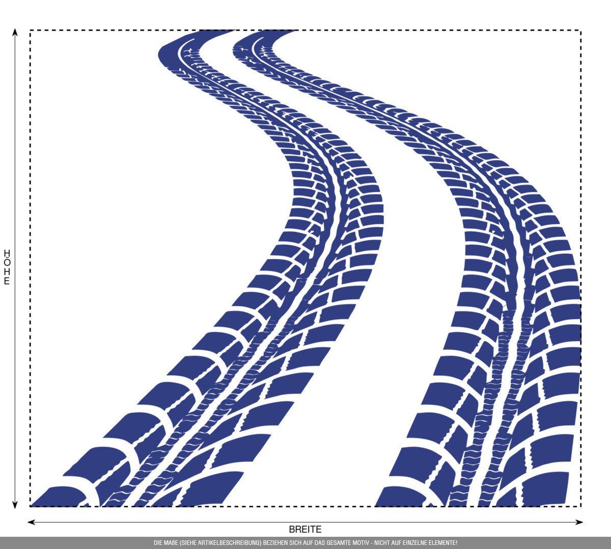 CLICKANDPRINT Aufkleber Aufkleber Aufkleber » Reifen-Spuren, 120x103,7cm, Schwarz • Wandtattoo   Wandaufkleber   Wandsticker   Wanddeko   Vinyl B01N7LQY07 Wandtattoos & Wandbilder a28d52