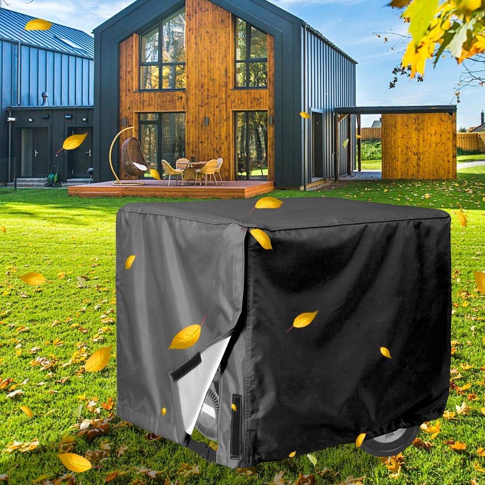 SUNDUXY Outdoor Generator Covers, Porch Shield 100% Waterproof Universal Generator Cover for Most Generators 5500-15000 Watt,Gray,32''x24''x24''
