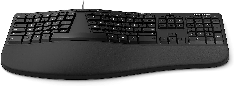 Microsoft Teclado ergonómico (LXM-00001), negro: Amazon.es ...