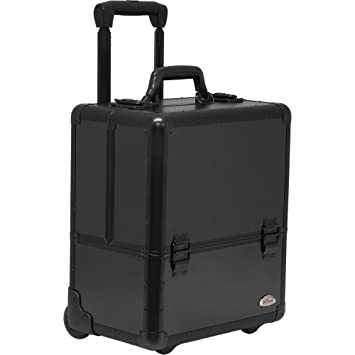 SUNRISE Makeup Case On Wheels C6033 Artis Professional Storage, 8 Trays  With Adjustable Dividers,