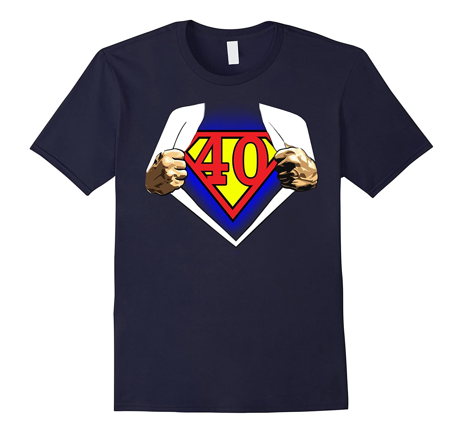 40th Birthday Super Hero Men's Shirt-CL