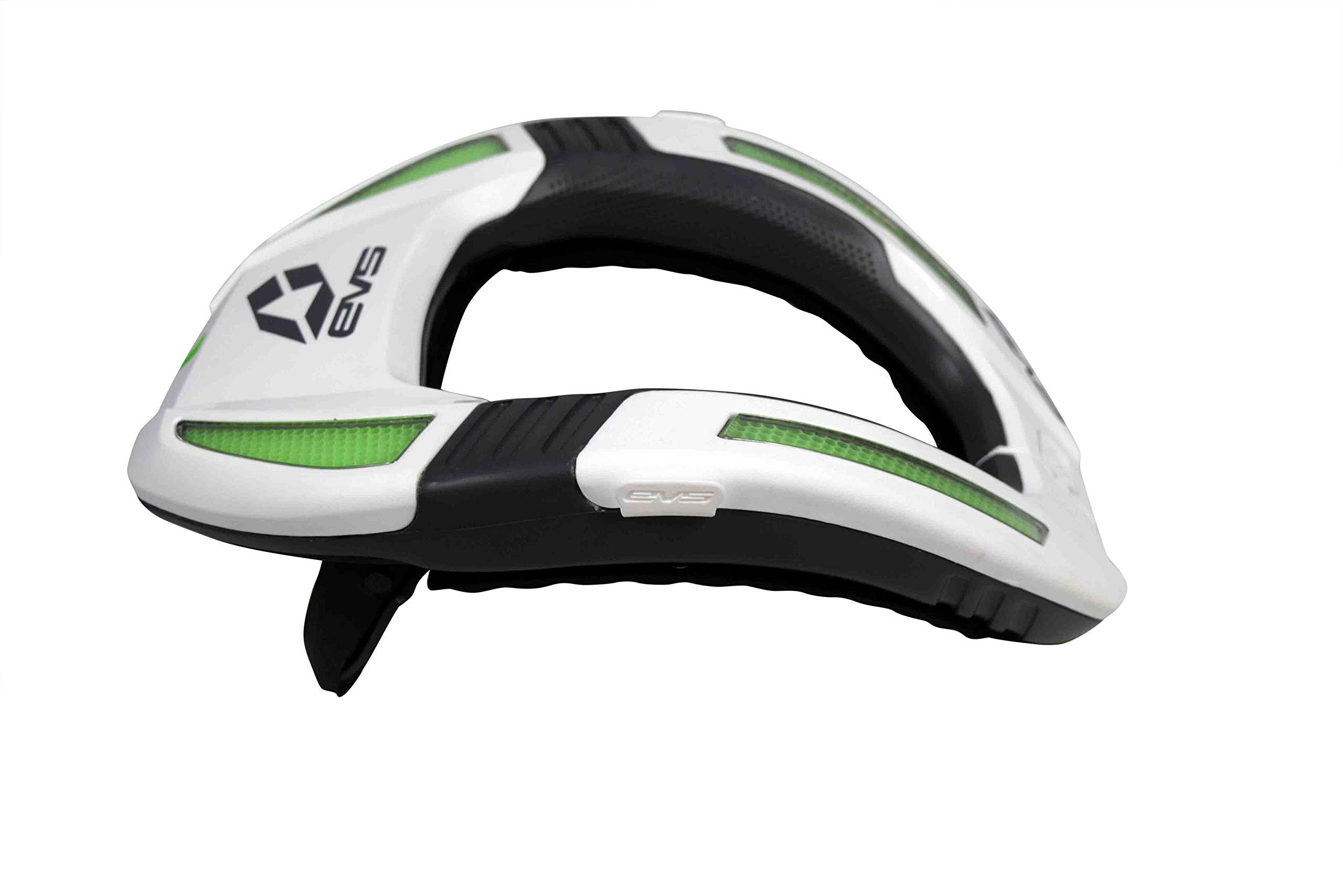 EVS Sports R4K-W-A Koroyd Race Collar White Size Adult Neck Brace