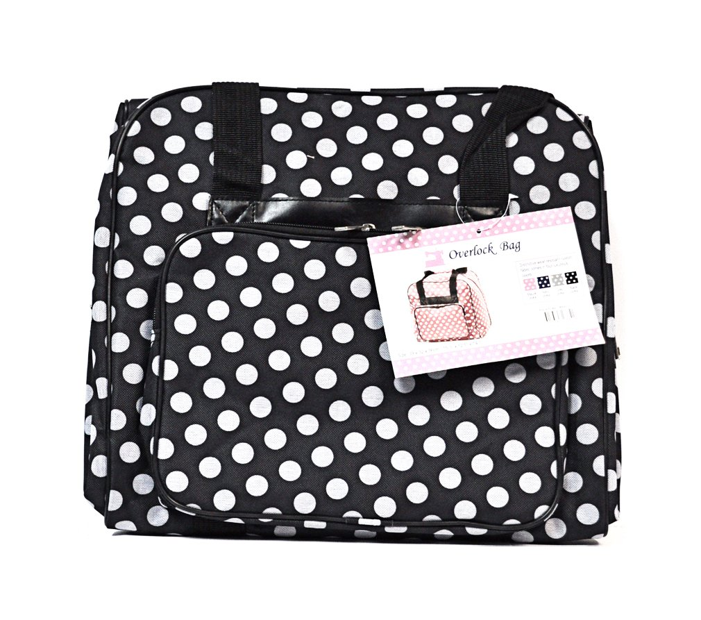Hemline Dotty Serger Overlock Bag in Black Polka Dot