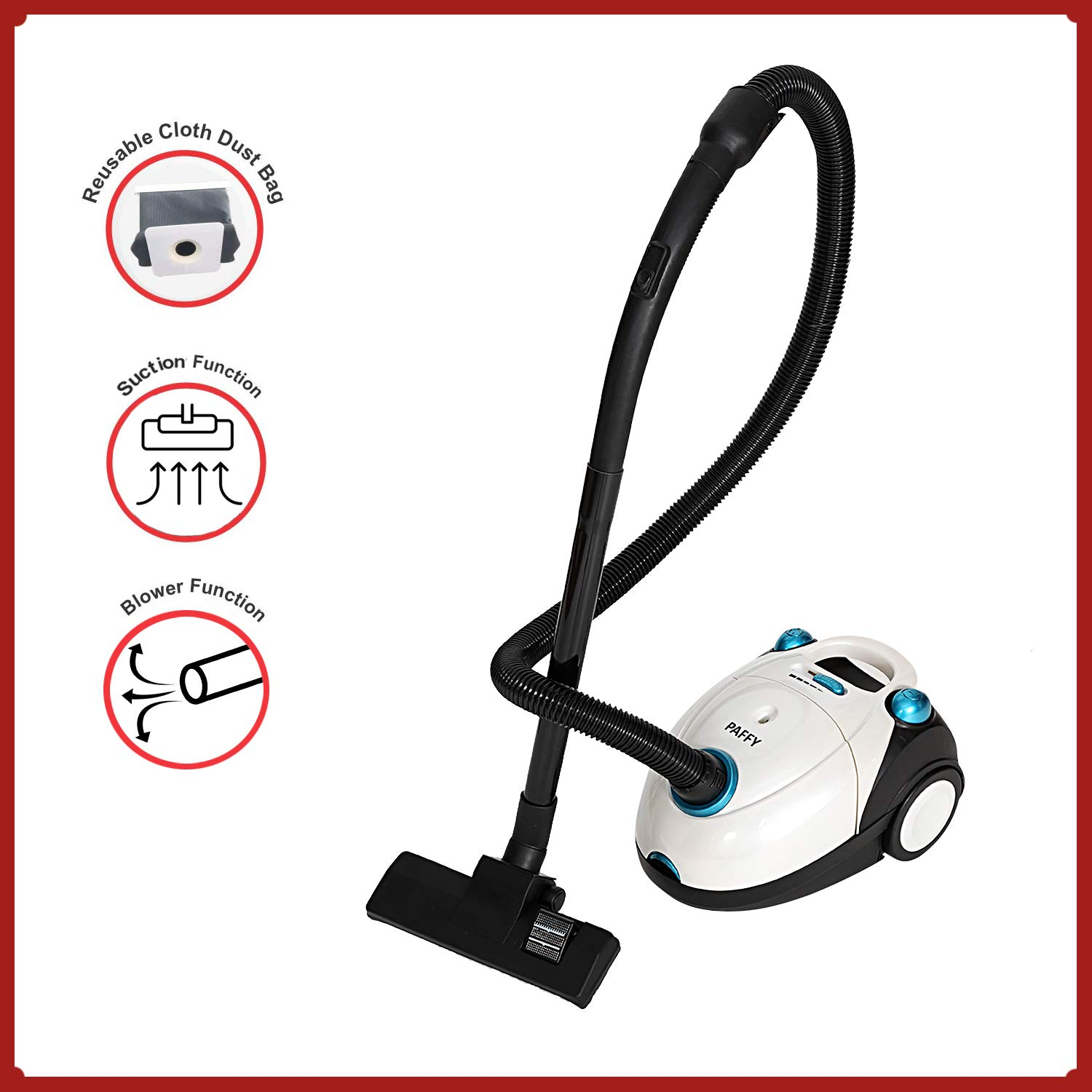 Vacuum Cleaner-1200W with Power Suction, Blower Function, Low Sound