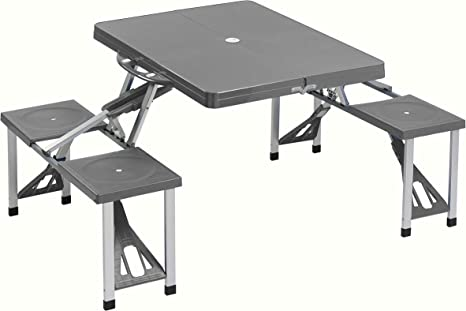 Cao 4 Camping Table - Mesa para acampada, color gris: Amazon.es ...