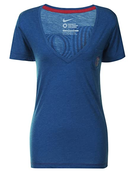 shoes for cheap new photos well known Nike Womens FCB Barcelona V-Neck T-shirt Size XS at Amazon ...