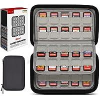 Sisma Korthållare 80 Fack för Spel till Nintendo Switch PS Vita eller SD Minneskort - Förvaringsväska Hårt Fodral -Svart