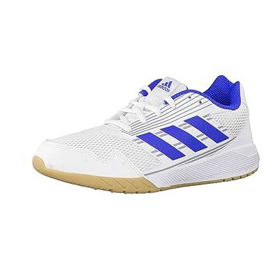 adidas Unisex-Kinder AltaRun K Laufschuhe, Weiß (Footwear White/Blue/Mid Grey), 34 EU