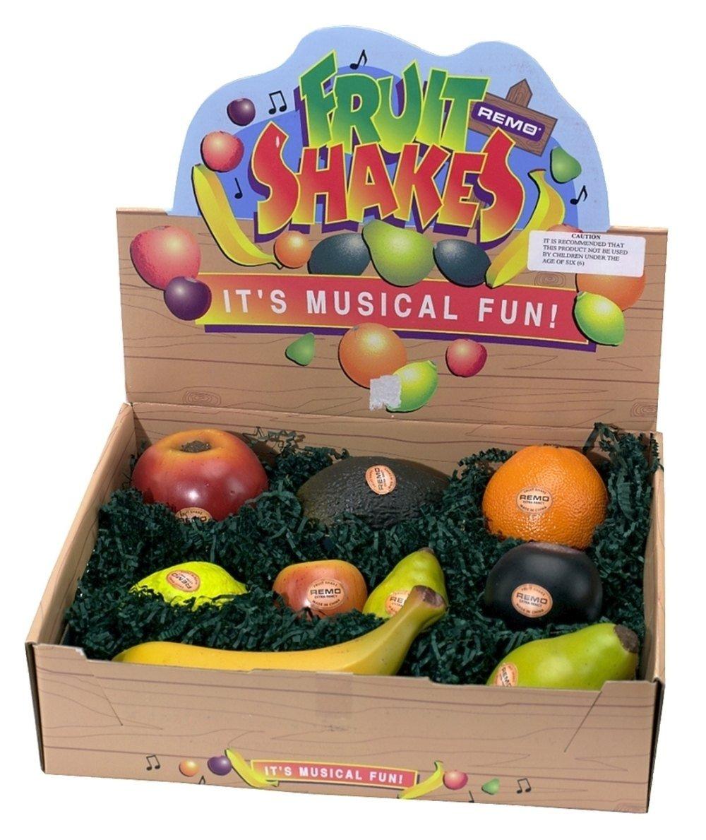REMO Shaker, Hand, Fruit' Style, 9-Piece Box, Assortment