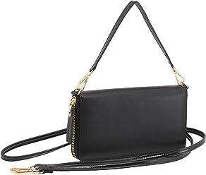 StilGut Smart Wallet en cuir - Pochette, sac, housse portable et sac à bandoulière, Noir Nappa
