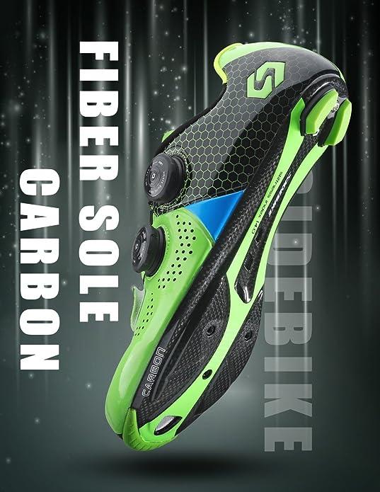 Amazon.com: SIDEBIKE - Zapatillas de ciclismo de fibra de ...