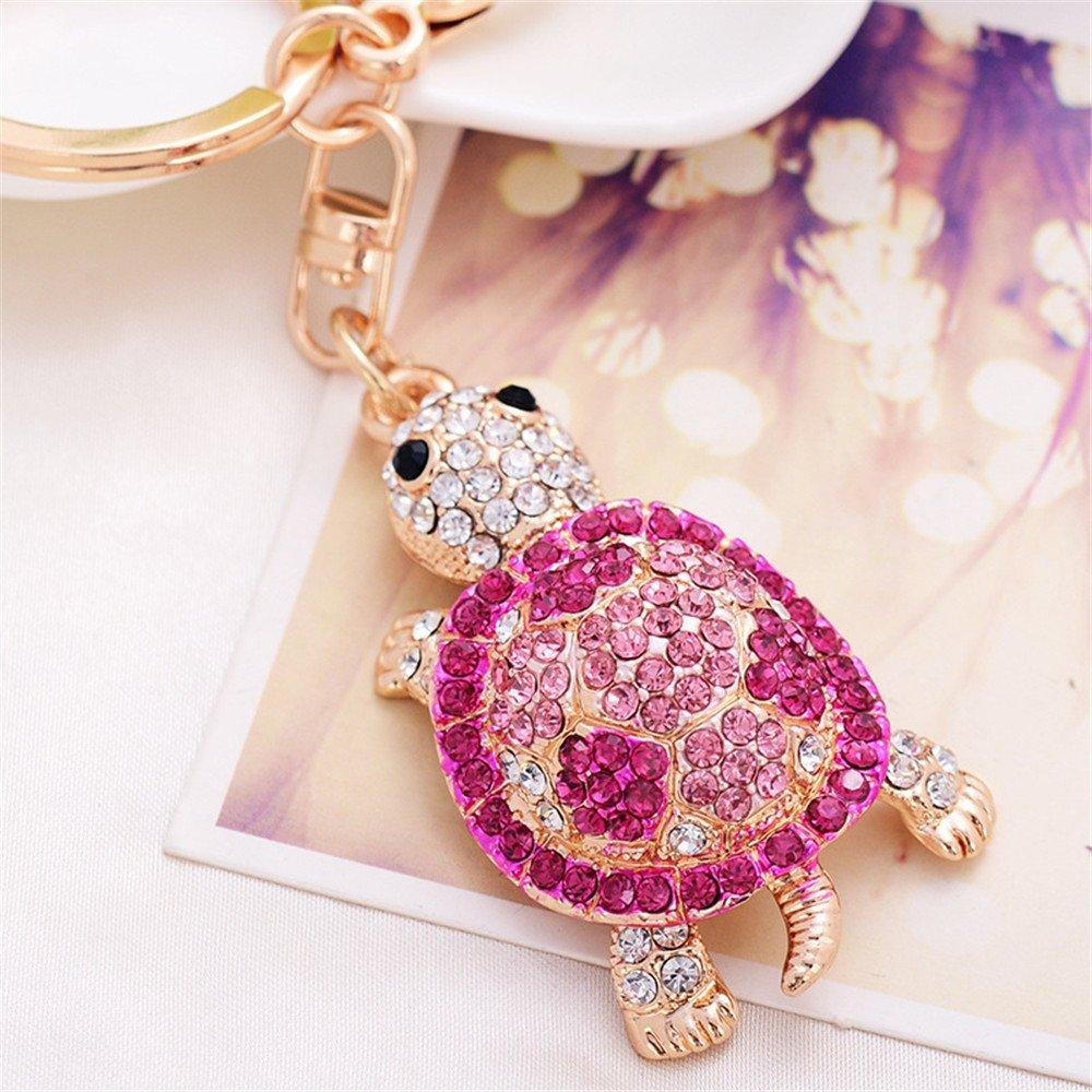 Amazon.com : Turtle Keychain Sparkling Keyring Blingbling Crystal ...