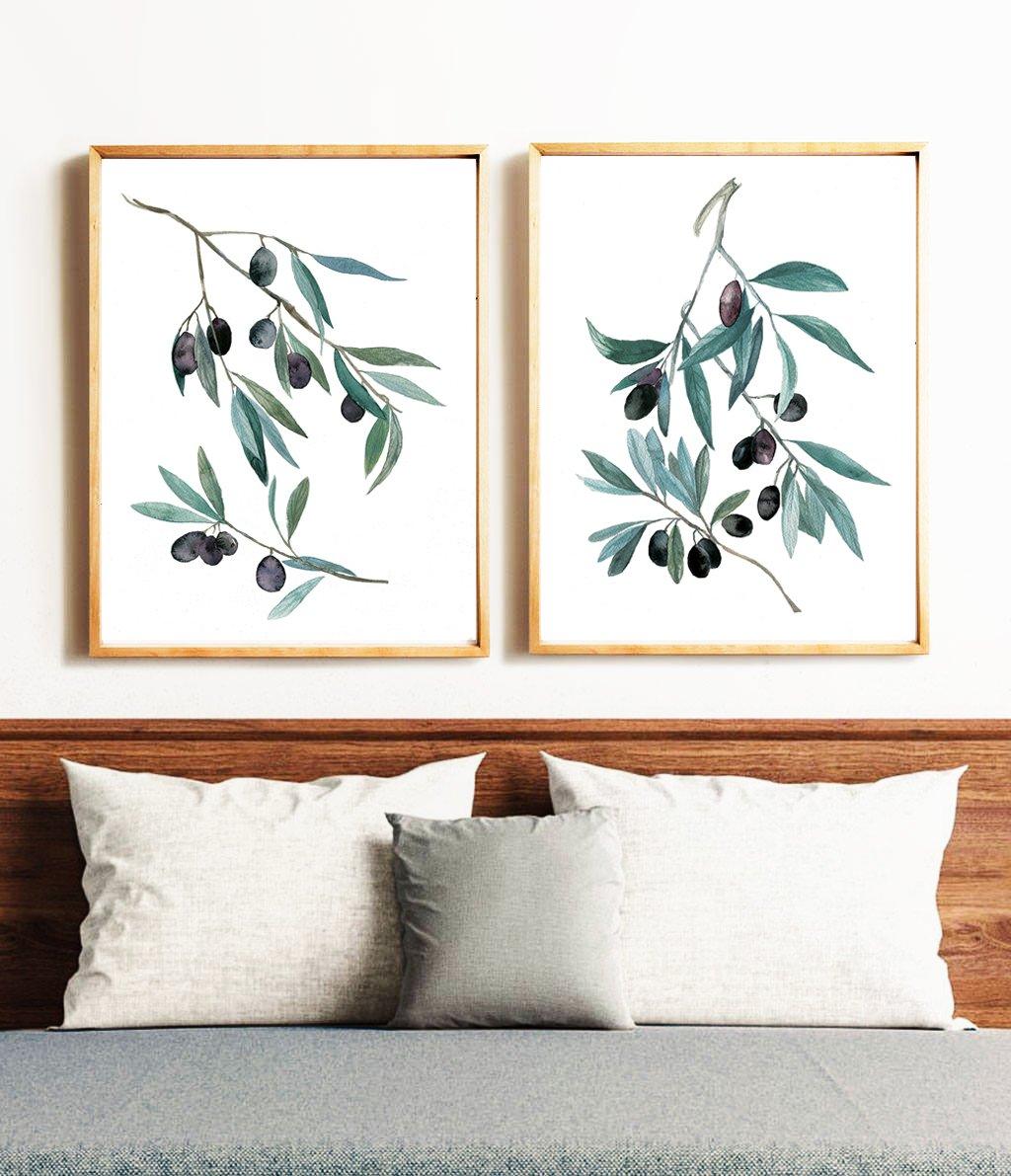 BotanicaPrints,Botanical Wall Art Set,Nature Wall Art Prints,Set of 2 Prints,2 Botanical Prints set, Kitchen Botanical Poster, Nature Art,Canvas Wall Art