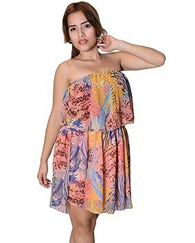 Bayside Barcelona Vestido de fiesta estampado en capas estampado multicolor