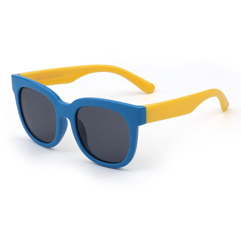 Occhiali da Sole in Gomma Flessibile Bambini Polarizzata Aviatore per Ragazze Ragazzi Età da 3 a 12 anni T1505C9