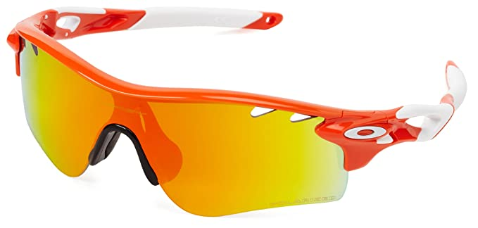 fa10c1b7e1 Oakley Sport Sunglasses (White and Orange) (OO9181)  Amazon.in ...