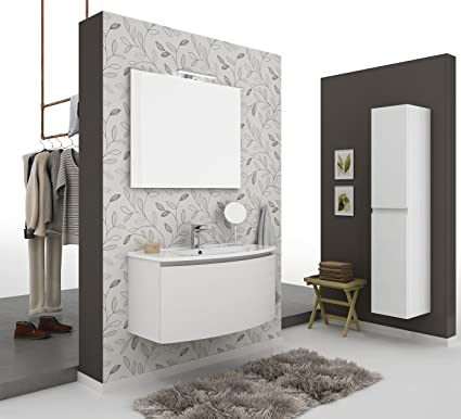 Captivating Dafnedesign.com   Bathroom Furniture And Column Two Doors, Mirror, Measure:  L