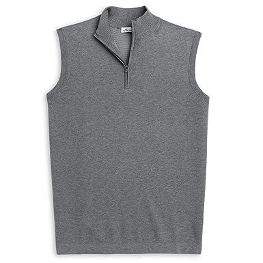 e5590a0cf6 PETER MILLAR Crown Comfort Cotton Quarter-Zip Gilet Vest at Amazon Men s  Clothing store