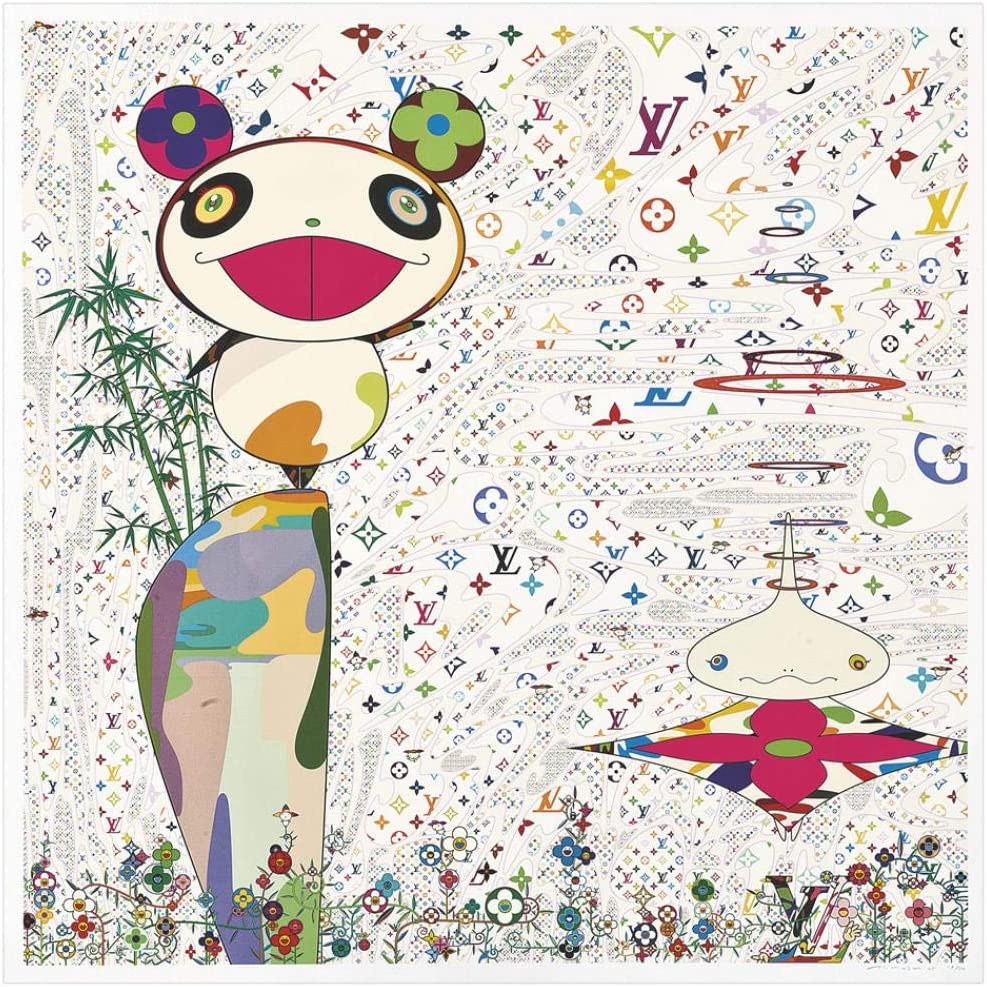 Takashis Murakami Tan Bo Pintura al óleo Arte de la Pared Moderno Cuadros Lienzo Impreso para Sala de Estar HD decoración del hogar carteles-60x60cm-Sin Marco