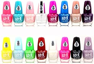 16pc L.A. Colors Extreme Shine gel nail polish no UV needed, intense color, non-fussy Set 2 new 16 Colors