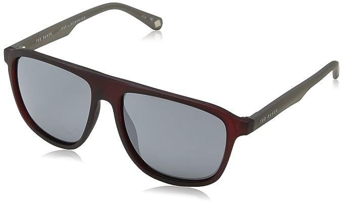 Ted Baker Kirby Gafas de Sol, Rojo (Burgundy), 57 para ...