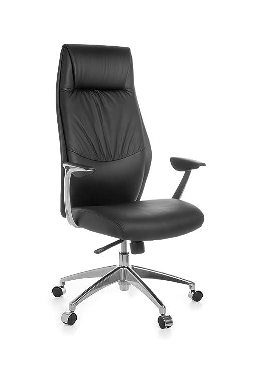 Design schreibtischstuhl  AMSTYLE Bürostuhl OXFORD 1 Echt-Leder Schwarz Design ...