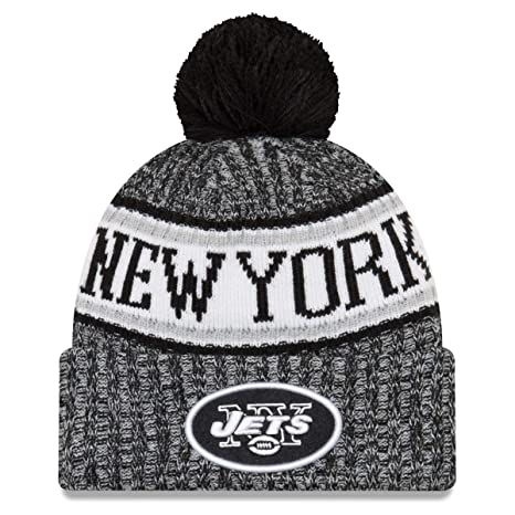 35deadc7833299 Amazon.com: New Era New York Jets Black & White 2018 Sport Knit NFL ...