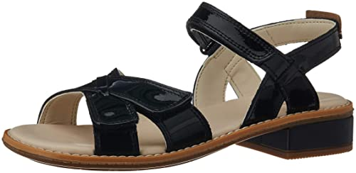 fe564ea70ef1 Clarks Girl s Darcy Charm Black Pat Lea Leather Mary Jane Flats-1 UK India