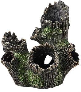 FTVOGUE Aquarium Driftwood Artificial Wood Tree Trunk Root Shrimp Spawning Ground Cave Fish Tank Vivarium Decoration