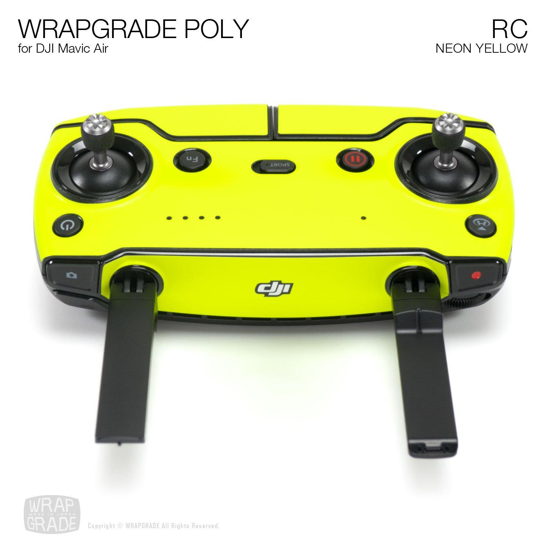 LIMONCINO Yellow Wrapgrade Poly Skin for DJI Mavic Air Remote Controller