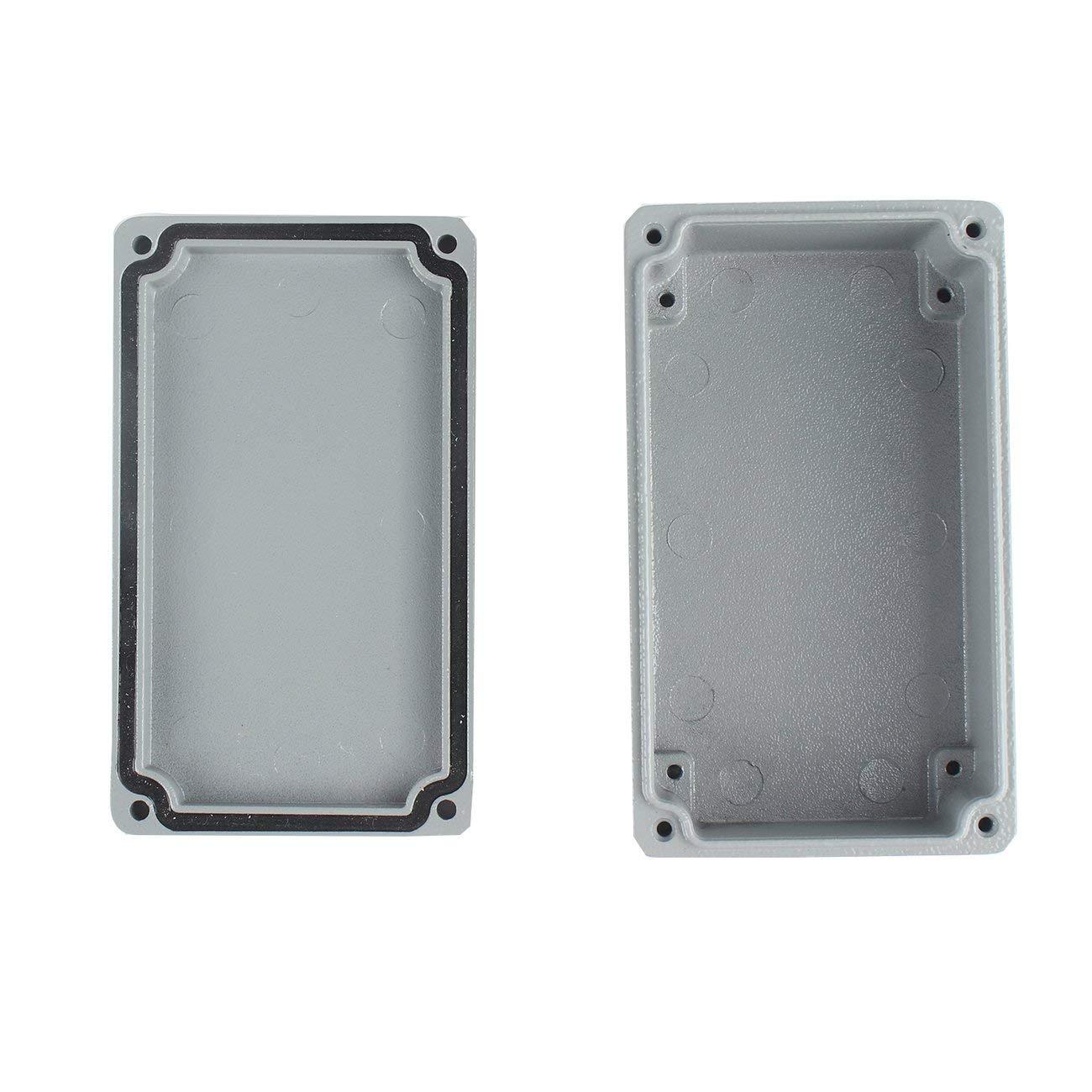 Caja a prueba de agua de aluminio fundido a presi/ón Caja de conexiones de pl/ástico a prueba de agua IP66 Caja de caja de instrumentos electr/ónicos Caja 125X80X60mm Blanco