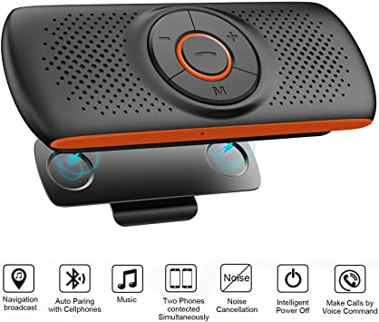 Amazon Com Bluetooth Handsfree Speakerphone For Cell Phone Netvip Wireless Car Kit Music Player Adapter With Back Clip Portable Bluetooth Speaker For Home Sport Outdoor Work With Siri Google Assistant Tf Card Home Audio Theater