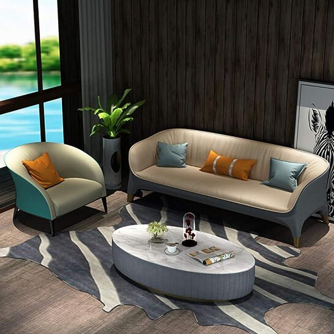 WSXX Mesa de Centro de mármol Moderna, pequeños Muebles Minimalistas Modernos de la Sala de Estar, Mesa de Centro Oval de mármol: Amazon.es: Hogar