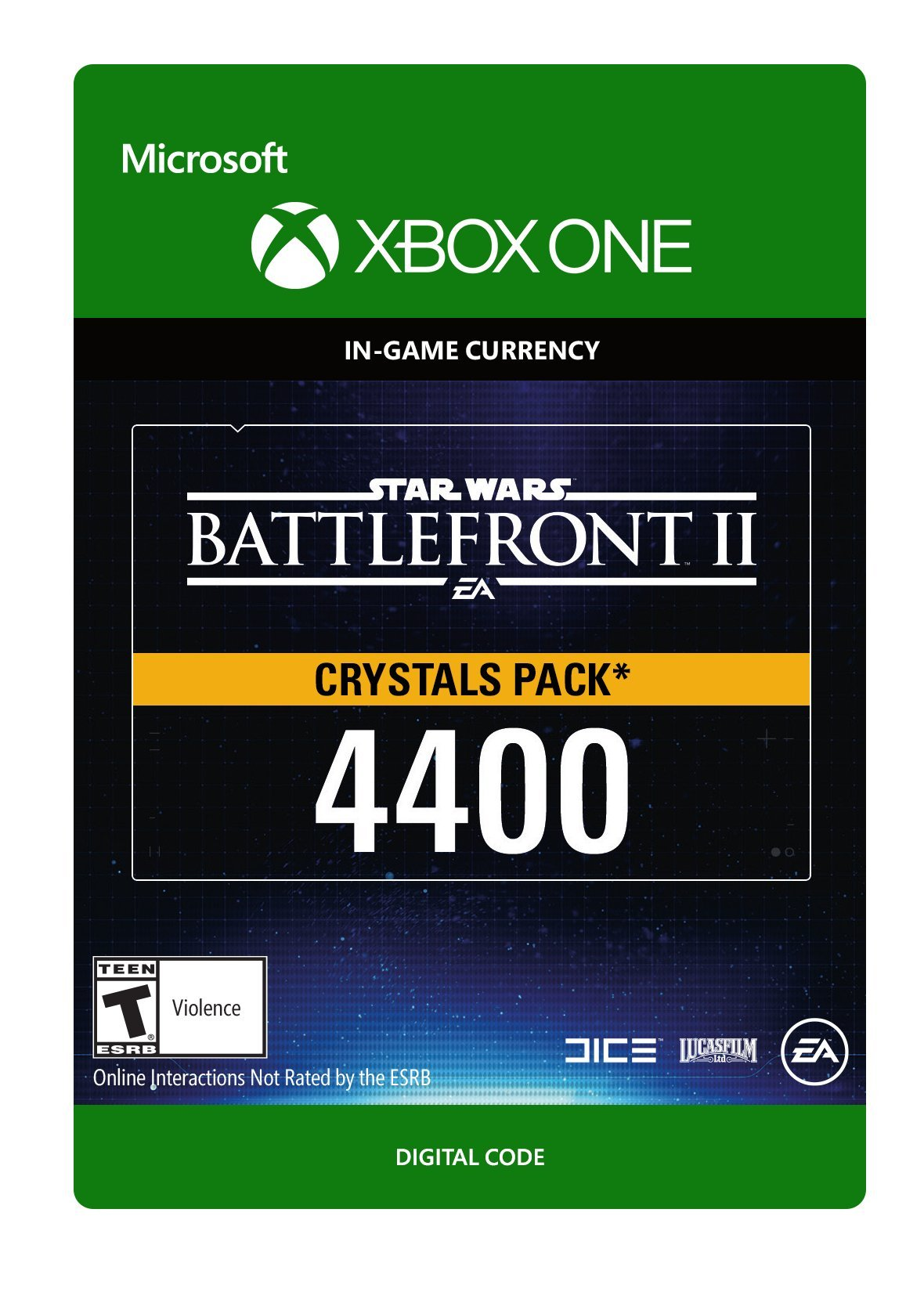 Star Wars Battlefront II 4400 Crystals - Xbox One [Digital Code]