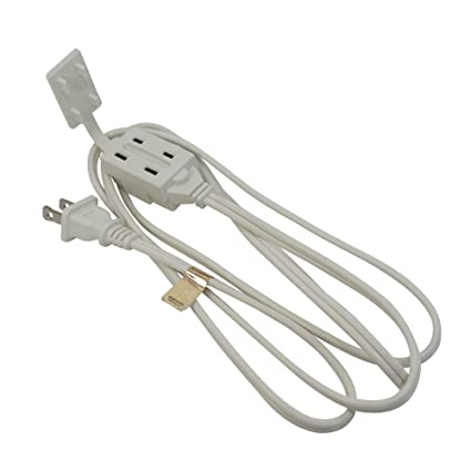 6Ft 3-Outlet Power Extension Cord White 16AWG/2 - - Amazon.com